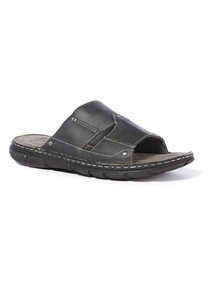 Sole Comfort Grey Leather Sandals