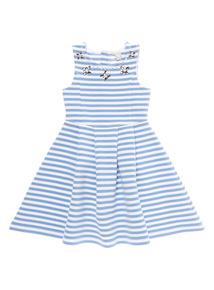 Light Blue Stripe Dress (3 - 12 years)