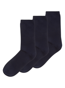 Navy Modal Socks 3 Pack