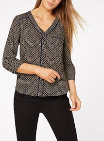 Chain Pattern Pyjama Shirt