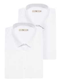 White Short Sleeved Shirts 2 Pack