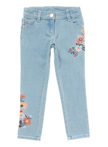 Denim Floral Embroidered Jean (3 -14 years)