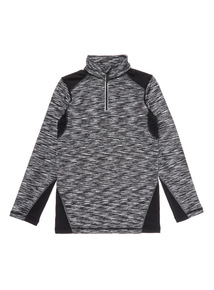 Kids Black Active Half Zip Top (3-14 years)