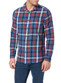 Red Check Brushed Shirt