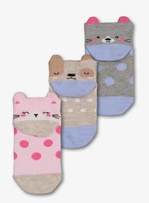 66cd01fe6ebbf Multicoloured Animal Trainer Socks (3 Infant - 5.5 Adult)