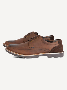 Sole Comfort Brown Leather Casual Shoes