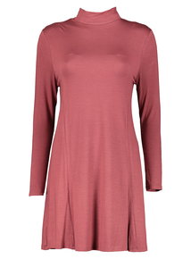 Pale Pink Jersey Swing Dress