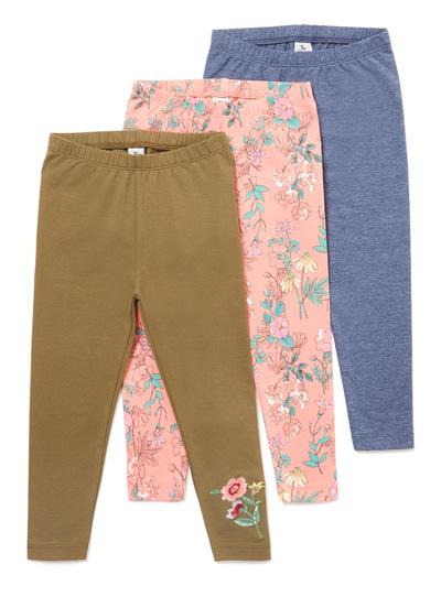 3 Pack Multicoloured Leggings (3-14 years)