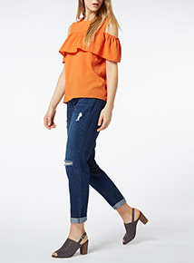 Ruffle Front Shell Top