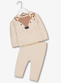 Beige Fox Knitted Set (0-24 months)