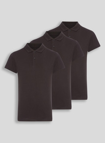 Unisex Black Polo Shirts 3 Pack (8-16 years)