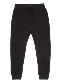 Black Jogger With Dropped Crotch (3-14 years)