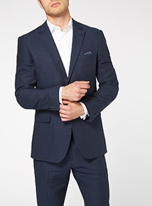 Navy Linen Rich Jacket