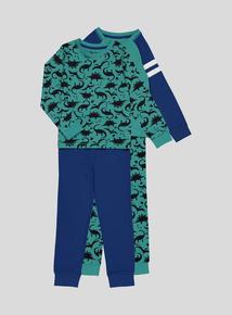 Dino Pyjamas 2 Pack (2-14 years)