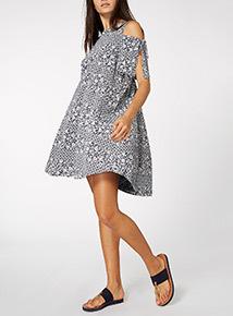 Online Exclusive Floral Cold Shoulder Dress