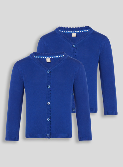 Kids Blue Scalloped Cardigan 2 Pack (3-12 years)  bf443e712