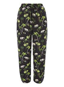 Elephant Print Drapey Trousers