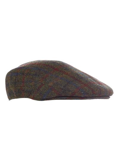 c97bf33164b Menswear Green Checked Harris Tweed Flat Cap