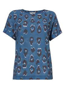 Blue Animal Print T-Shirt