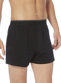 Black/Grey Tipped Jersey Boxers 3 Pack