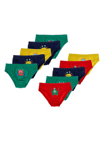 10 Pack Monsters Briefs (18 months-5 years)