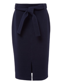 Nautical Self Tie Pencil Skirt