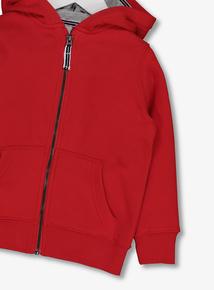 Red Zip Through Hoodie (1-6 years)