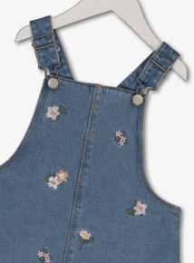 73964f7ea3 Blue Denim Floral Embroidered Pinafore (3-14 years)