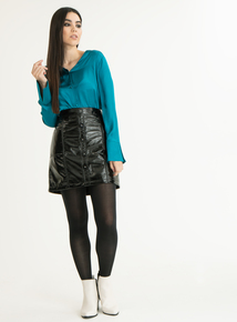 GFW Online Exclusive Teal Satin-Style Shirt