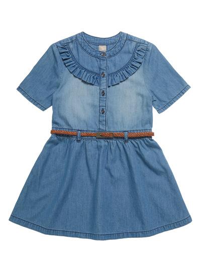 Denim Frill Dress (3 - 14 years)