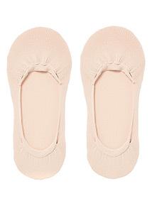 Beige No Show Footsie Socks 2 Pack