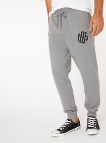 Grey Printed Joggers