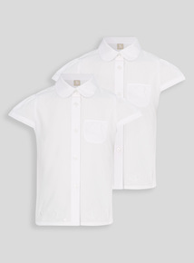 White Embroidered Blouses 2 Pack (3-12 years)