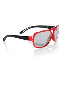 Multicoloured Red Visor Sunglasses