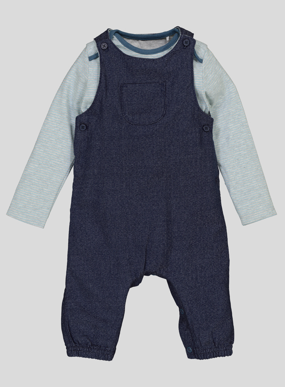 4d4f6dac56 Baby Blue Bodysuit   Dungarees (0-24 Months)