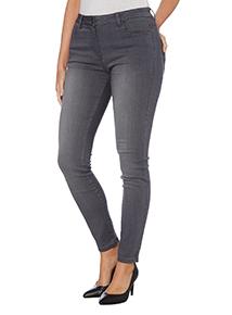 Grey Skinny Fit Mid Rise Jean