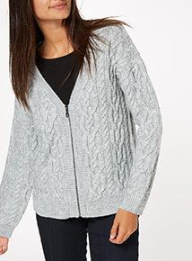 Grey Short Cardigan