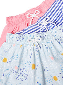 3 Pack Multicoloured Jersey Shorts (9 months-6 years)