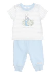 Boys Blue Peter Rabbit Jersey Set (0 - 12 months)