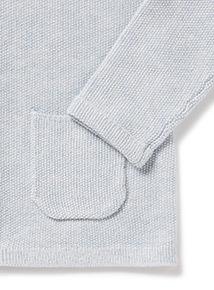 Blue Hooded Cardigan (Newborn -12 months)
