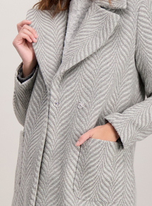 Grey Jacquard Coat