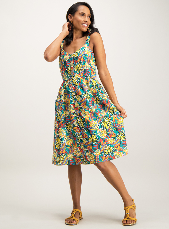 454f776fc92 Womens Multicoloured Tropical Floral Sundress