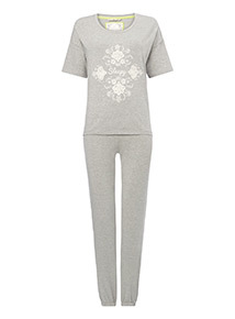 Embroidered Sleepy Pyjama Set