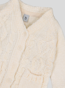 Cream Chenille Cable Knit Cardigan (9 months - 6 years)