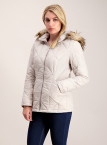 Silver Grey 3 Tog Feather & Down Jacket