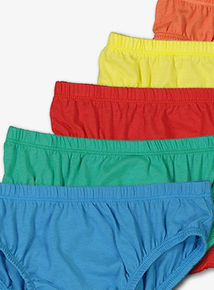 Multicoloured Brights Briefs 10 Pack (18 months-12 years)