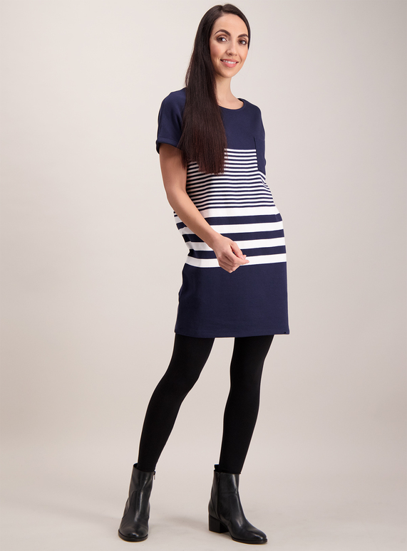 0dd02276de3 Womens Navy Nautical Block Stripe Tunic | Tu clothing