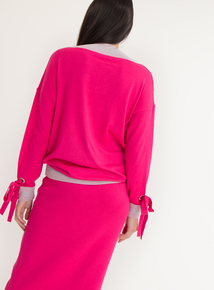 GFW Cerise Pink V Neck Jumper