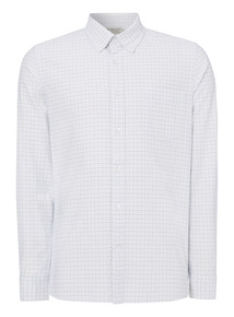 Blue Tattershal Oxford Shirt