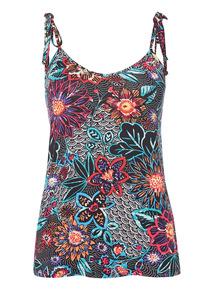 Multicoloured Floral Vest